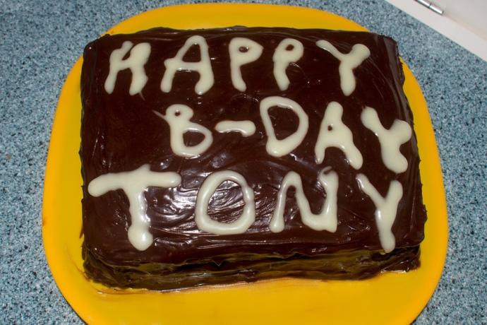 Tony's B-day cake